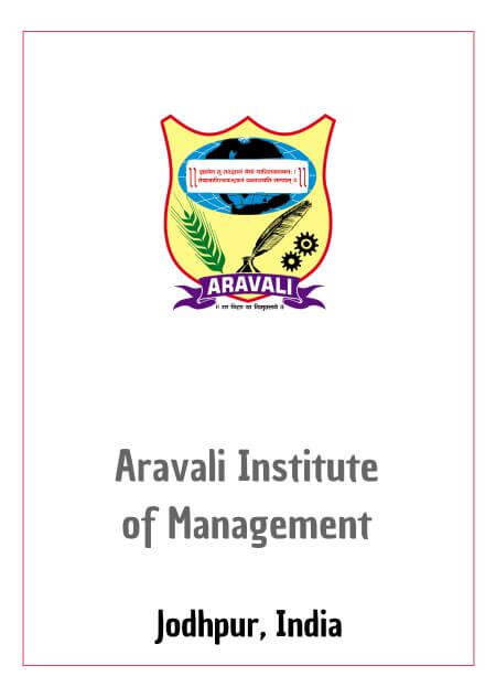 Resume Design - Aravali Institute of Management, Jodhpur