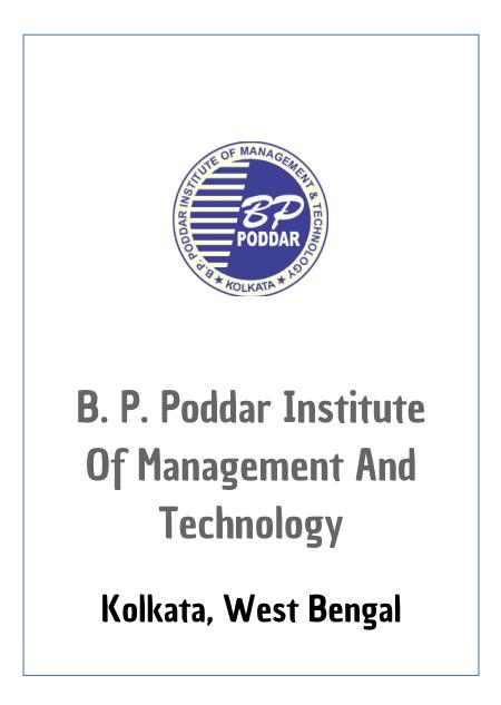 Resume Design - BP Poddar Institute of Management & Technology, Kolkata
