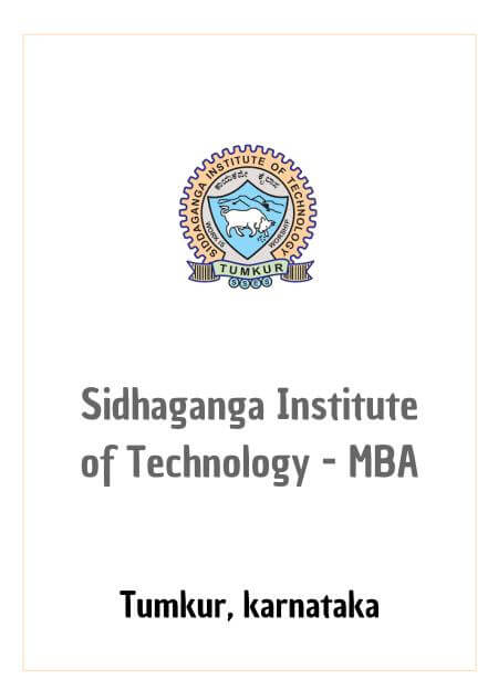 Resume Design - Sidhaganga Institute of Technology - MBA Department, Tumkur