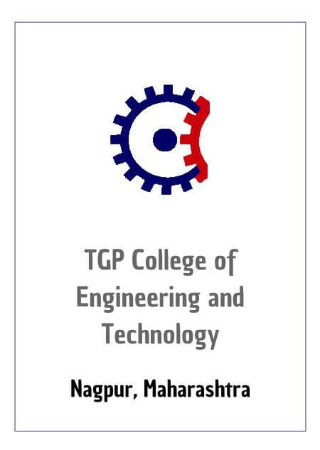 Resume Design - TGP COLLEGE OF ENGINEERING & TECHNOLOGY TGPCET NAGPUR