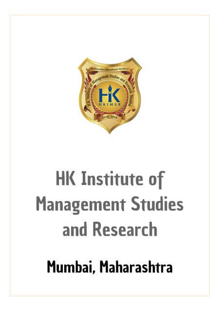 Resume Design - HK Institute of Management Studies and Research - HKIMSR, Mumbai