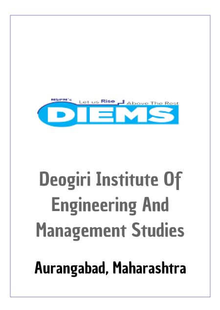 Resume Design - Deogiri Institute of Engineering and Management Studies - DIEMS, Aurangabad