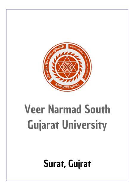 Resume Design - Veer Narmad South Gujarat University - VNSGU Surat