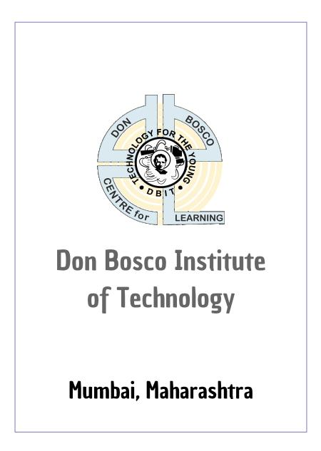 Resume Design - Don Bosco Institute of Technology - DBIT, Mumbai