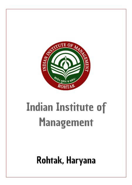 Resume Design - Indian Institute of Management (IIM) Rohtak