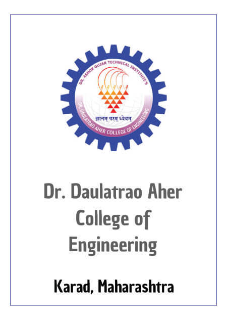 Resume Design - Dr. Daulatrao Aher College of Engineering - Karad