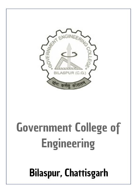 Resume Design - Government Engineering College - Bilaspur