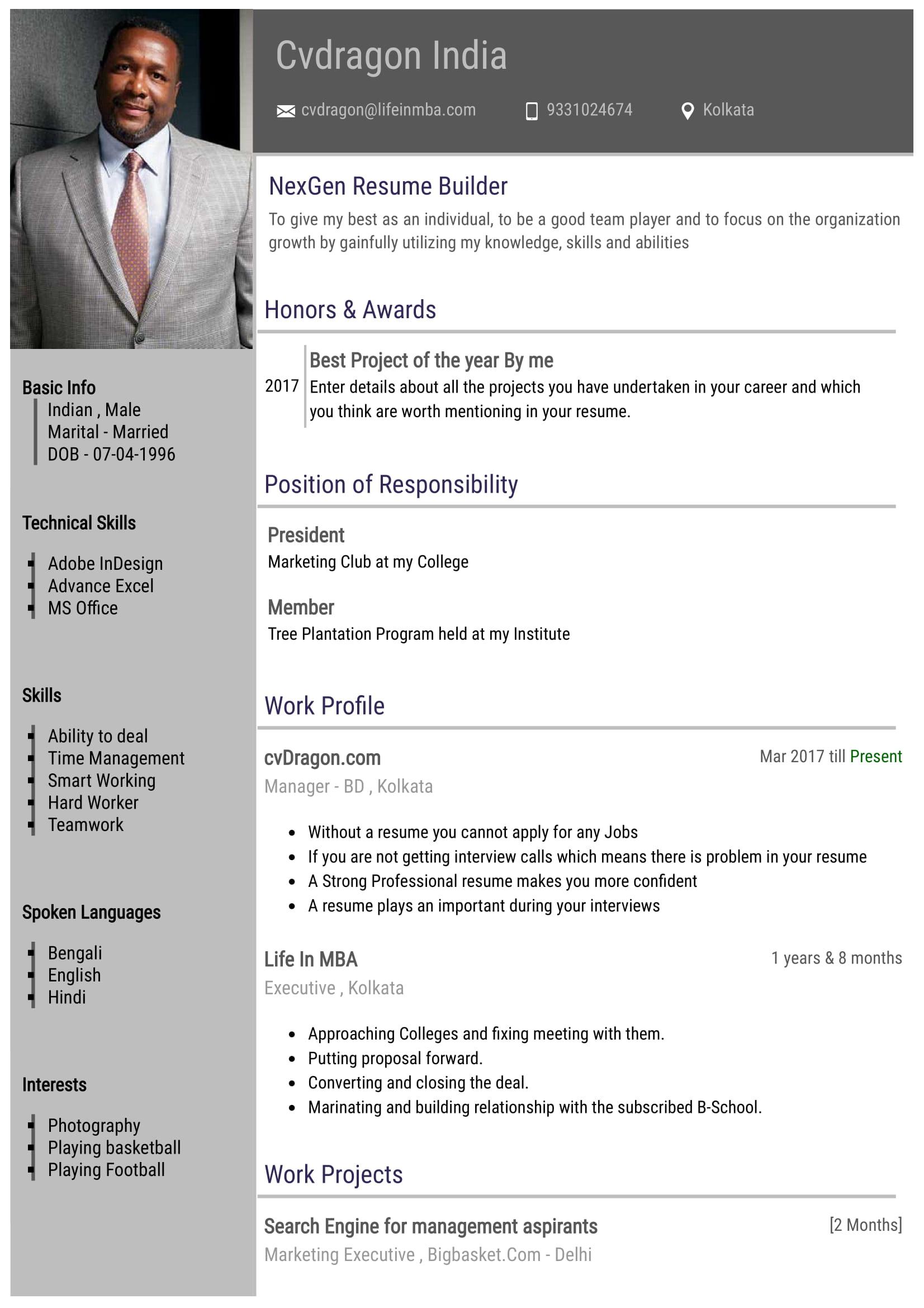 Resume Design - 1